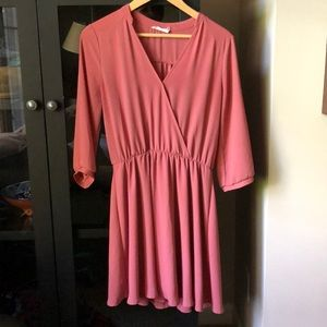 Lush Dress long sleeve Mauve Rose